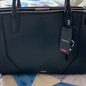 Black pebbled leather  Stanton kiernan tote